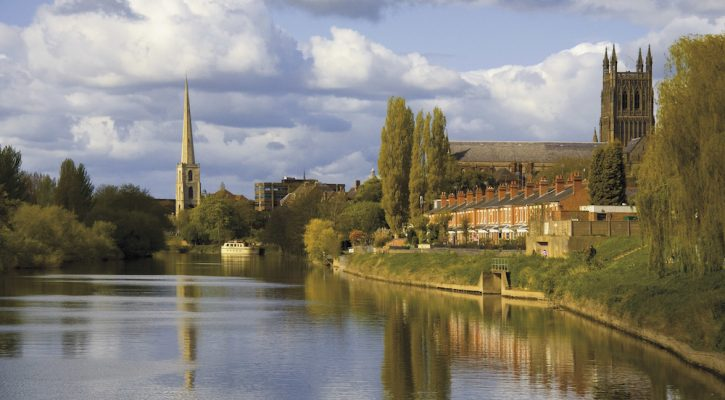 worcester city the river severn worcestershire the midlands england uk